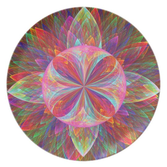 Colourful Loonie Flower Melamine Plate