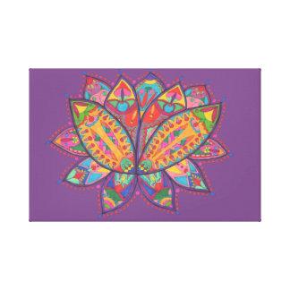Colourful lotus flower canvas print