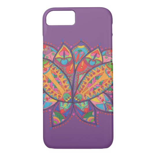 Colourful lotus flower iPhone 8/7 case