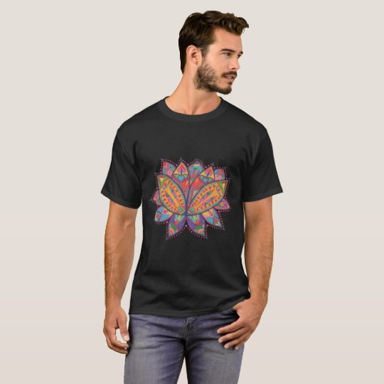 Colourful lotus flower T-Shirt