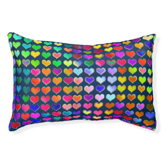 Colourful Love Hearts Pet Bed