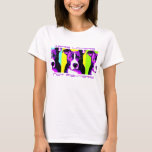 Colourful Lovers Not Fighters Pit Bull Shirt