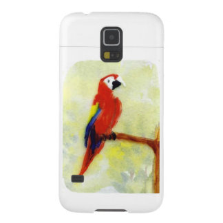 Colourful Macaw Bird Art Case For Galaxy S5