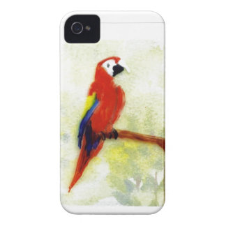 Colourful Macaw Bird Art Case-Mate iPhone 4 Cases