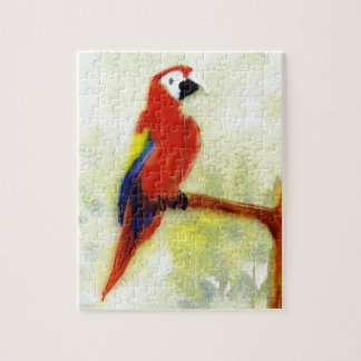 Colourful Macaw Bird Art Jigsaw Puzzle