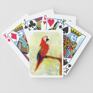 Colourful Macaw Bird Art Parrot Bicycle Playing Cards