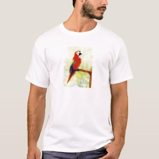 Colourful Macaw Bird Art T-Shirt