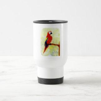 Colourful Macaw Bird Art Travel Mug