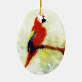 Colourful Macaw Bird Ceramic Oval Decoration