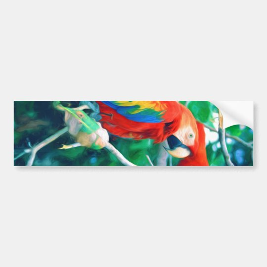Colourful Macaw Bumper Sticker