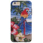 Colourful Macaws Hawaiian Beach Summer Scene Tough iPhone 6 Plus Case