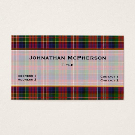 Colourful MacPherson Plaid Custom Business Card