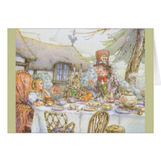 Colourful Mad Hatter's Tea Party Greeting Card