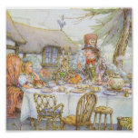 Colourful Mad Hatter's Tea Party Poster