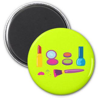 Colourful Makeup 6 Cm Round Magnet
