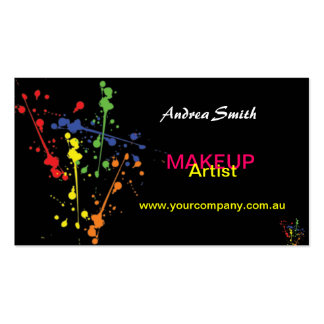 Colourful Makeup Artist Business Card