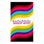 Colourful Makeup Artist Business Cards