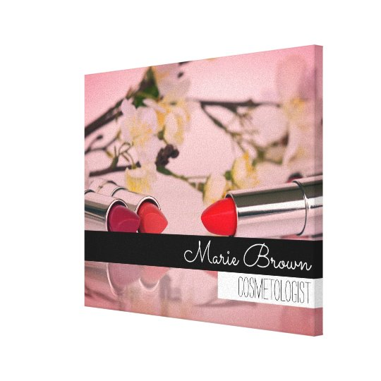 Colourful Makeup Photography Custom Name Canvas Print