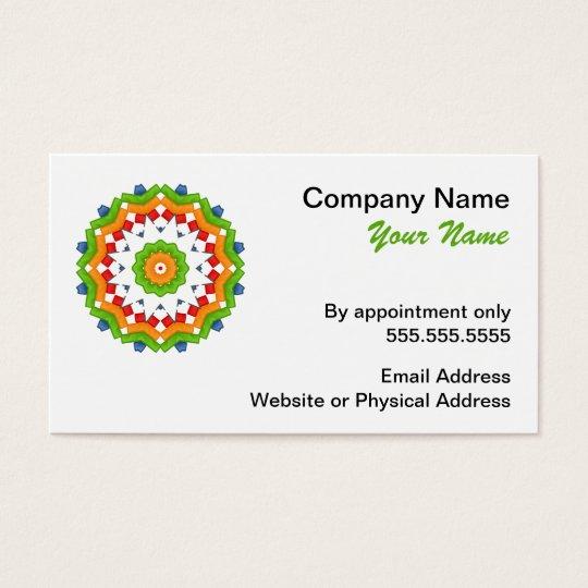 Colourful Mandala Business Cards