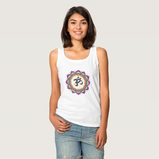 Colourful mandala design womens tank top