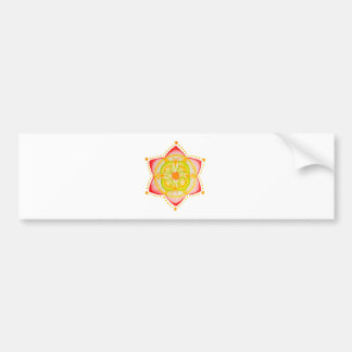 Colourful Mandala Flower Hand Painted Bumper Sticker