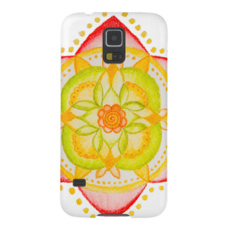 Colourful Mandala Flower Hand Painted Case For Galaxy S5