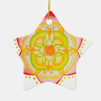 Colourful Mandala Flower Hand Painted Christmas Ornament