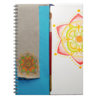 Colourful Mandala Flower Hand Painted Notebook