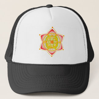 Colourful Mandala Flower Hand Painted Trucker Hat