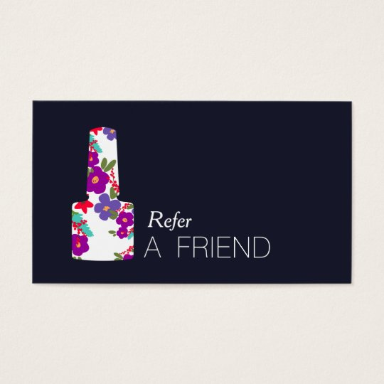 Colourful Manicurist Nail Salon Refer A Friend Business