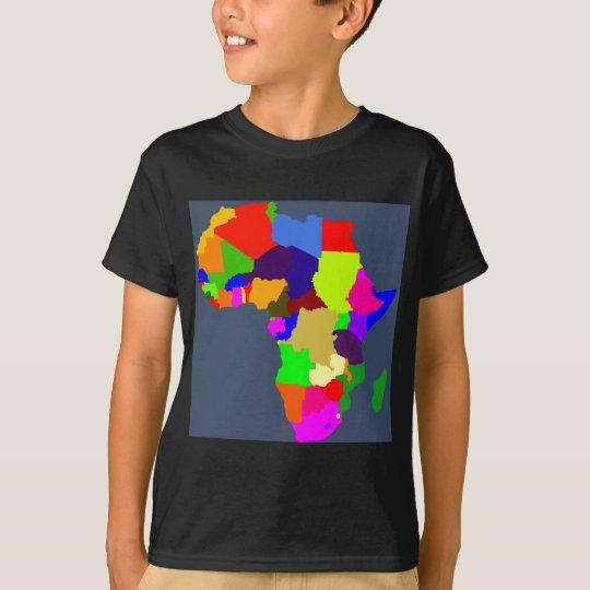 Colourful map of Africa T-Shirt