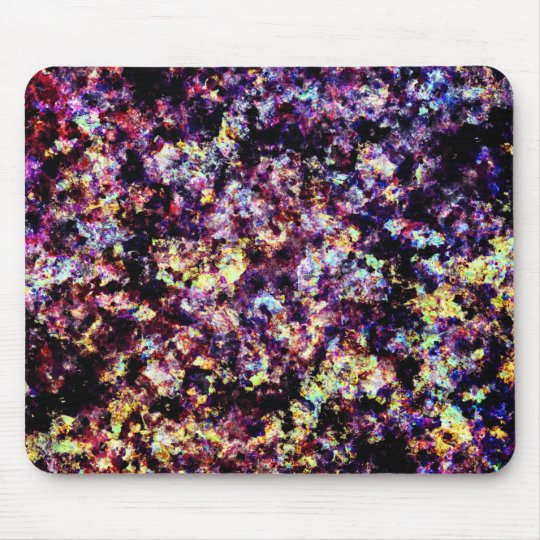 Colourful Marble Flakes Pattern Mouse Pad