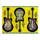 Colourful Mardi Gras Guitars Postcard