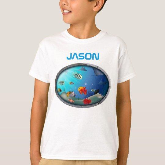 Colourful Marine Life Scene T-Shirt