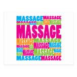 Colourful Massage Postcards