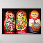 Colourful Matryoshka Dolls Poster
