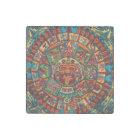 Colourful Mayan Calendar Stone Magnet