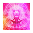 Colourful Meditation Spiritual Yoga Lotus Pose Canvas Print