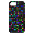 Colourful 'Meteor Shower' Squares Pattern iPhone 5 Cover