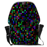 Colourful 'Meteor Shower' Squares Pattern Commuter Bags