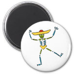 Colourful Mexican Dancing Skeleton Magnet