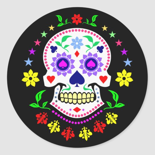 Colourful Mexican Day of the Dead Sugar Skull