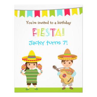 Colourful Mexican Fiesta Kids Birthday Invitations
