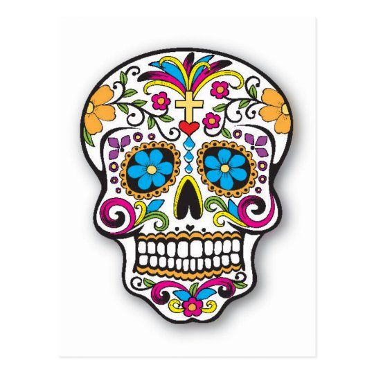 Colourful Mexican Sugar Skull Day of the Dead