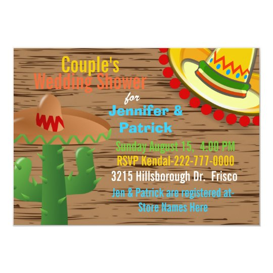 Colourful Mexican Themed Couple's Wedding Shower Card