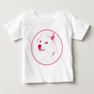 Colourful, minimal doge face baby T-Shirt