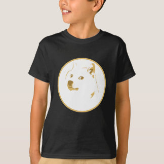 Colourful, minimal doge face T-Shirt