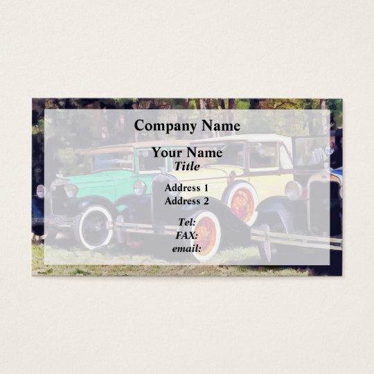 Colourful Model A's Business Card