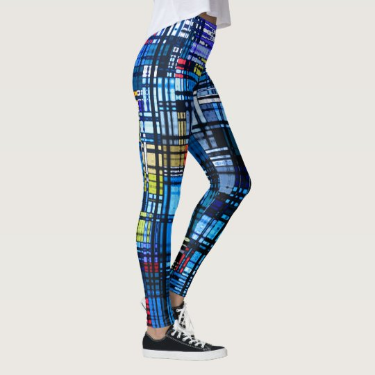 Colourful Modern Abstract Leggings