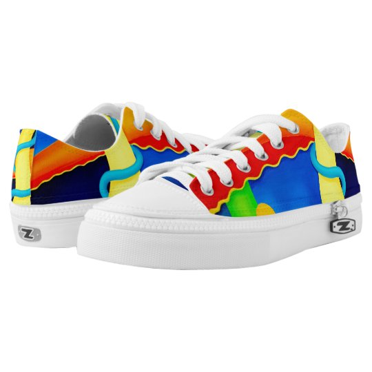Colourful Modern Art Sneakers